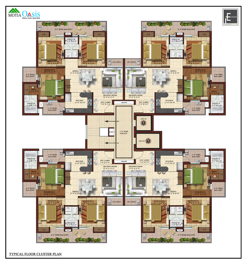 Flats Apartments: 3, 4 Bhk LUXURY FLATS- APARTMENTS