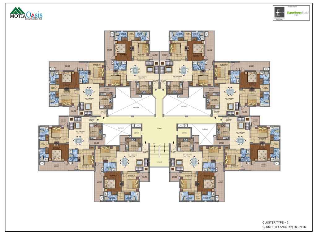 cluster house plans 3 4 bhk luxury flats apartments motia