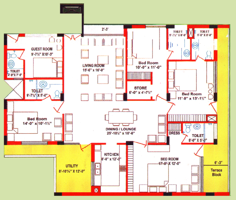 four-bed-room-apartment-Jamuna-Apartment