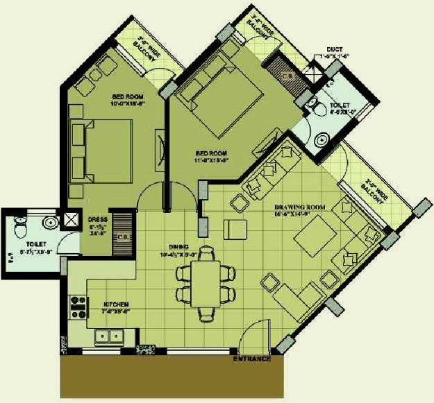 floor plan 1207