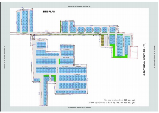 site plan of sunny urban home kharar