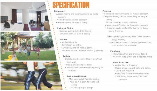 specifications sunny urban homes